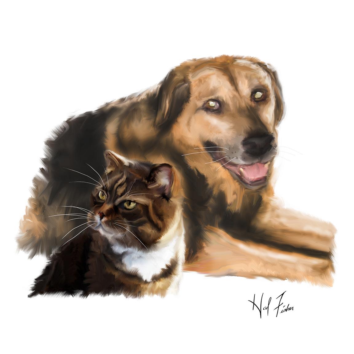 Miko and Kilo Art Print